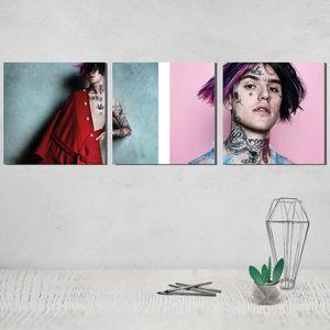 PEINTURE VERRE-VITRAIL Lil Peep Toile Peinture Poster Le Triptyque 3 Pein