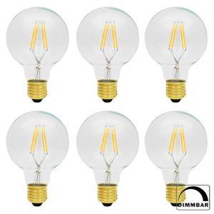 AMPOULE - LED 6X G80 Rétro Ampoule LED Dimmable E27 4W Edison st
