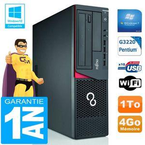 UNITÉ CENTRALE  PC Fujitsu Esprimo E720 E85+ SFF G3220 RAM 4Go Dis