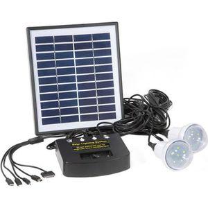 KIT PHOTOVOLTAIQUE Mini kit solaire 6V/4W - Noir - 22 cm