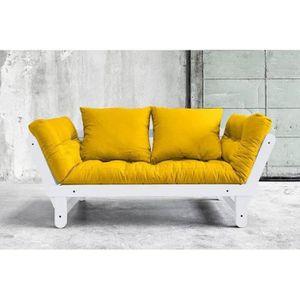 FUTON Banquette méridienne blanche convertible futon jau