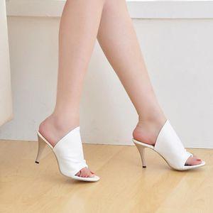 ESCARPIN SHELOVEIT® Pantoufles Femmes Casual Pure Couleur H