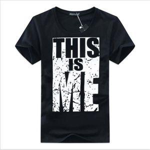 T-SHIRT t shirt hommes Serré3D Impression tee shirt homme
