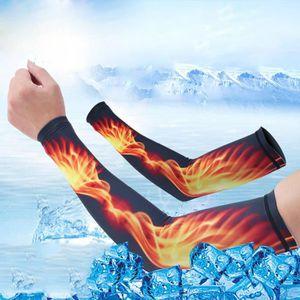PROTÈGE AVANT-BRAS Manchon de soie de glace solaire de flamme d'été