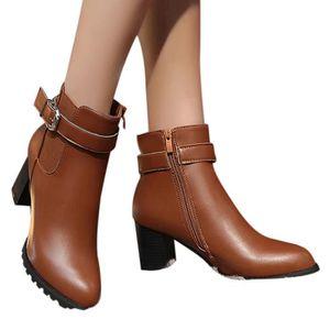 BOTTE Femme Automne Hiver bottes courtes talon haut Mart