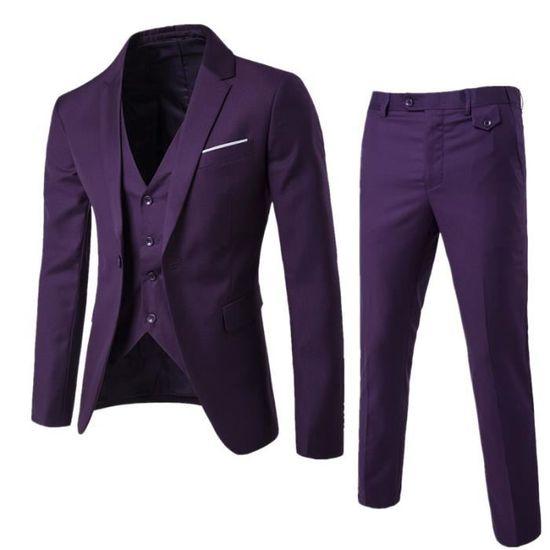 gilet pantalon veste Veste Hommes Trois Vêtement Décontracté Pièces Masculin Homme SwHzqp
