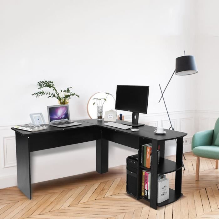 meuble d 39 angle de bureau achat vente pas cher cdiscount. Black Bedroom Furniture Sets. Home Design Ideas