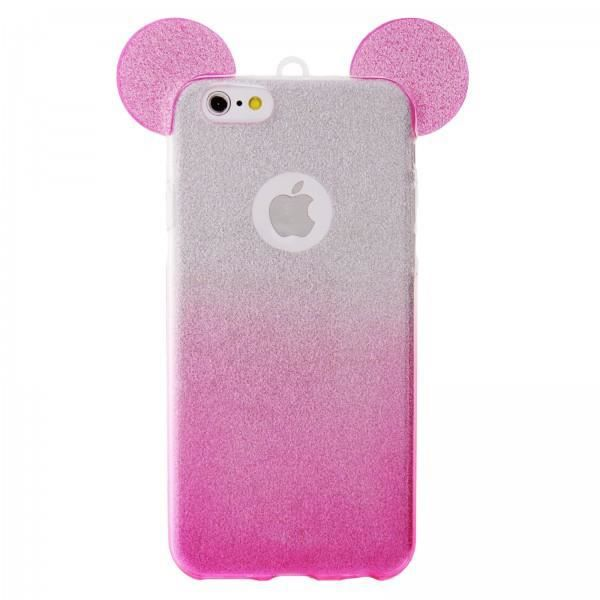 iphone 5 5s se coque silicone transparente oreille glitter mickey rose paillettes achat film. Black Bedroom Furniture Sets. Home Design Ideas