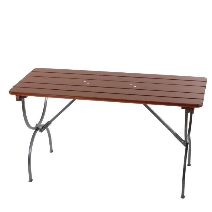 Table de jardin LINZ, bois massif, pliable,150x60x81cm. - Achat ...