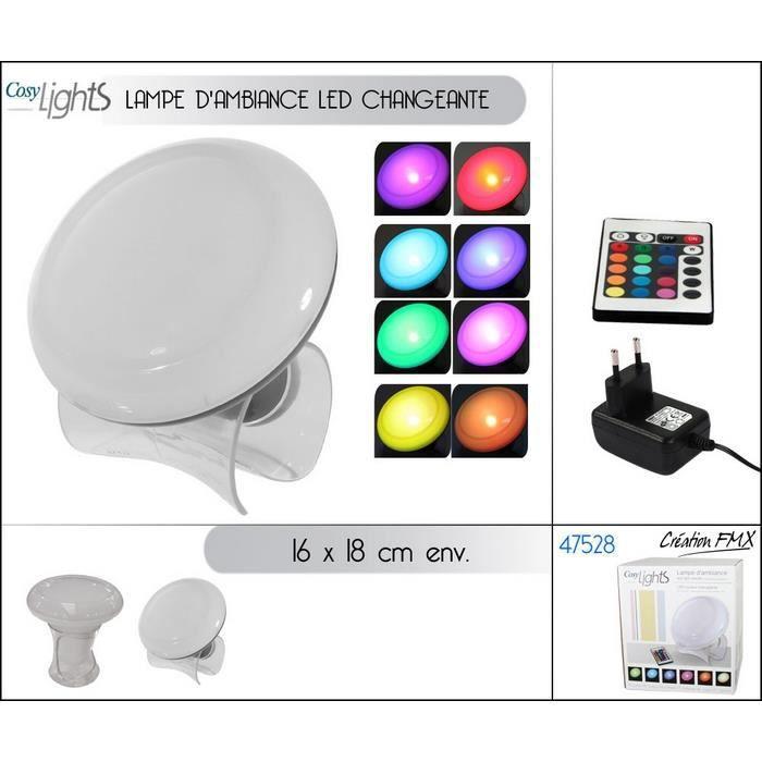 Lampe d\'ambiance LED couleurs variables - Achat / Vente Lampe d ...