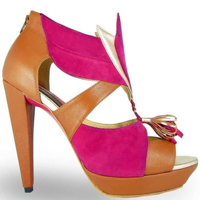 cuir en KIKI cuir Chaussure femme femme en Chaussure en femme Chaussure KIKI a5vqH