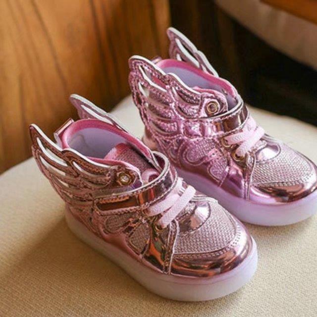 Enfants Sneakers de bébé Flying Wing Chaussures Garçons Filles Casual Coloré Incandescent Enfants Loisirs Sports Noël Halloween