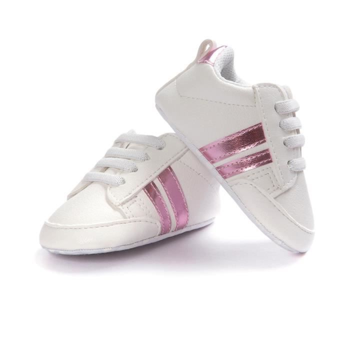 Frankmall®Chaussures bébé en cuir antidérapant Soft Bottom chaussure de sport pour enfants ROSE#WQQ0926108 srZ1fqa