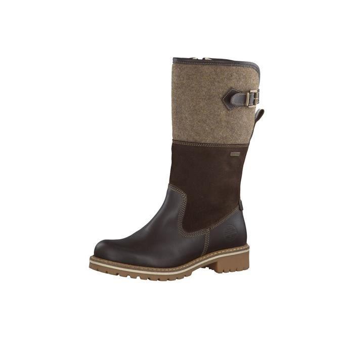 Tamaris bottes d'hiver en laine Reiterpotik alignés 1-26432-23 385 Café Peigne