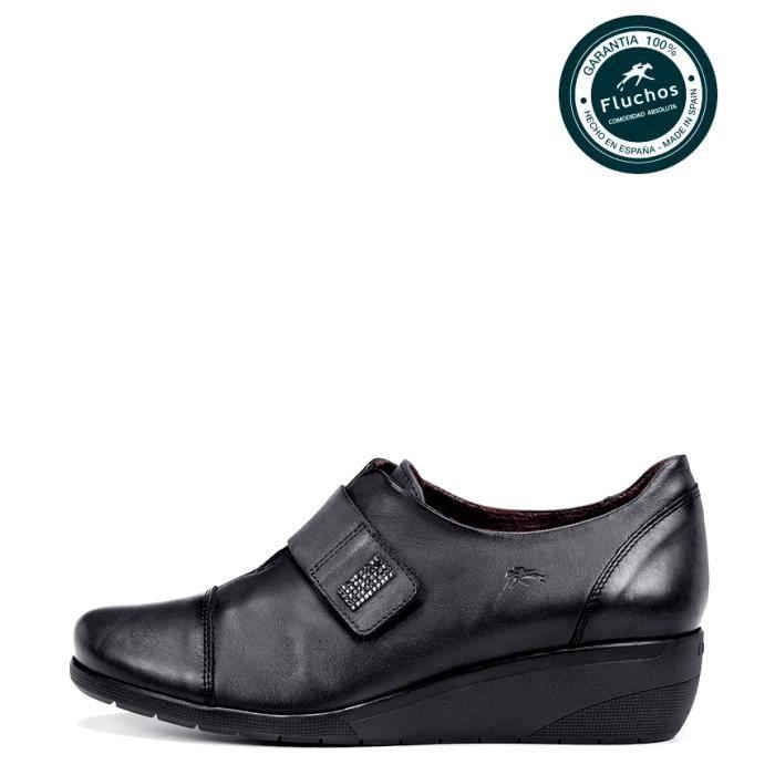 Fluchos - escarpins en cuir noir Lena coincent -Hauteur: 4cm