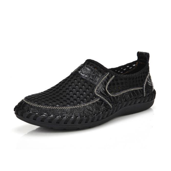 Chaussures XZ070Noir42 Comfortable Homme On Chaussure Été Printemps TYS Respirant Slip 4BnzPxq