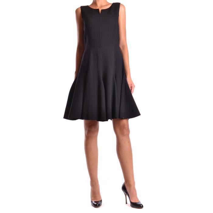 Femme Laine Armani Collezioni Sma14tsm020999 Noir Robe L34qRj5A