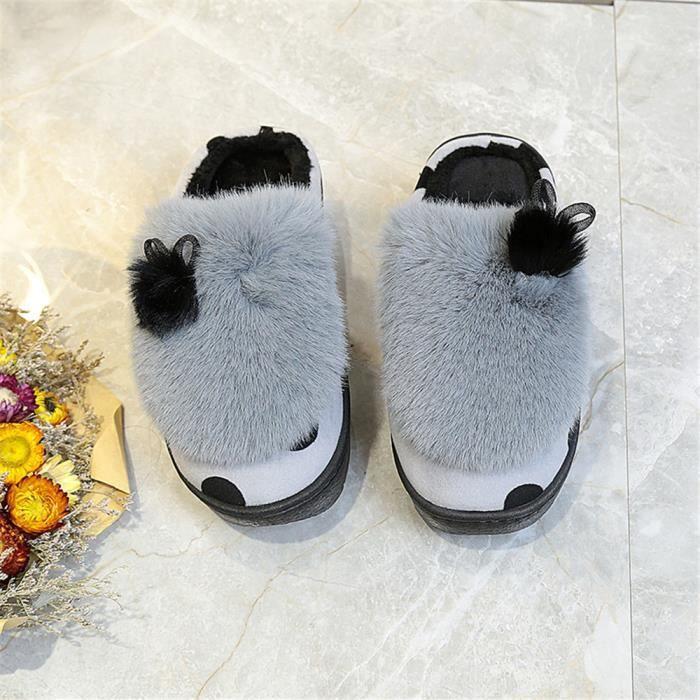 Décontractées Femmes Chausson Mode Chausson Plus De Cachemire Chaussure Doux 35-40
