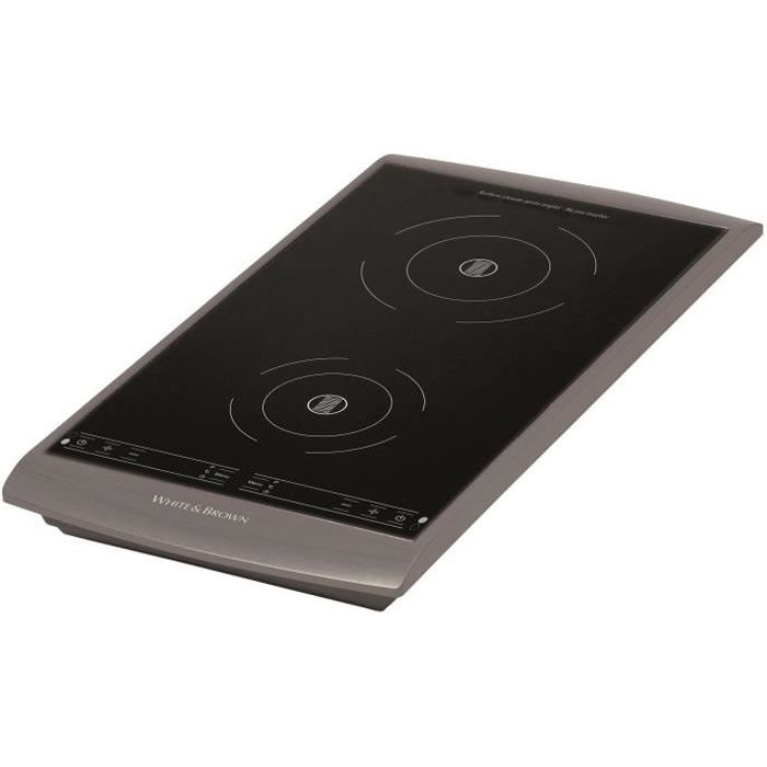 WHITE&BROWN PC493 Plaque de cuisson posable à induction - Gris ...