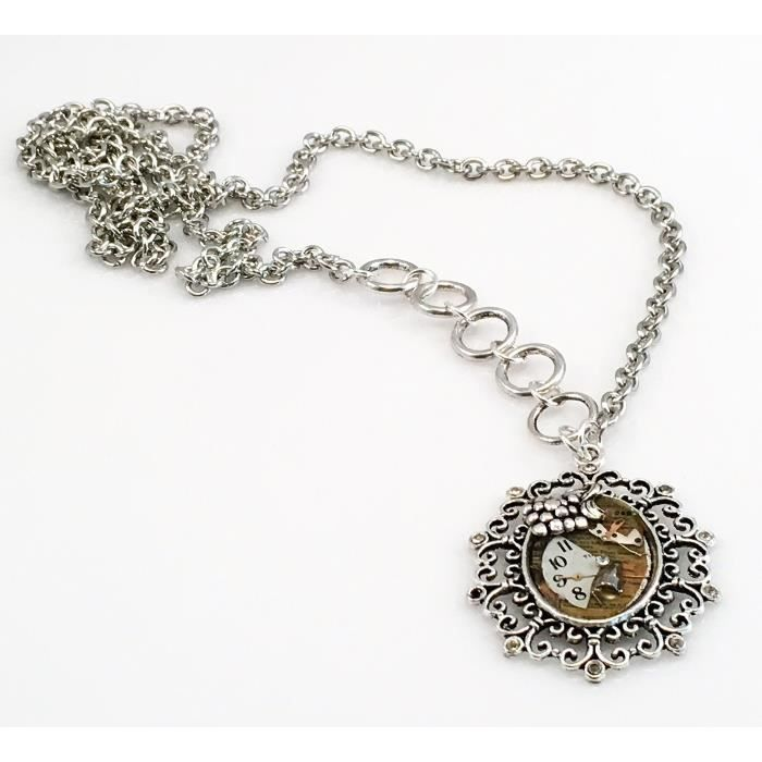 Craze Circle Of Montre Collier Parts - This Is A Collier One-Of-A-Kind! Fait main.
