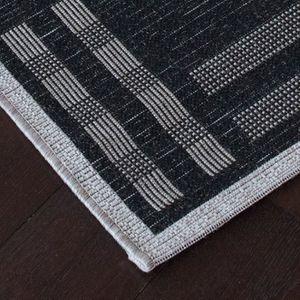 tapis salon gris noir achat vente pas cher. Black Bedroom Furniture Sets. Home Design Ideas