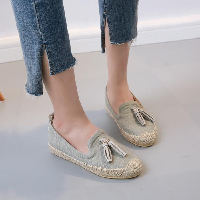 Ballet Femmes Flats Les Sur Casual xe De 7861 Chaussures Slip Vert Glands Clair Slacker Confortable SpqEfWw0W