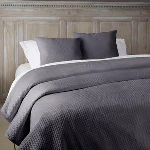 couvre lit velours achat vente couvre lit velours pas cher soldes d s le 10 janvier cdiscount. Black Bedroom Furniture Sets. Home Design Ideas