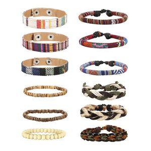 BRACELET - GOURMETTE Femmes 6-12pcs Bracelets Wrap pour le chanvre Cord