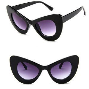 LUNETTES DE SOLEIL Femmes Classique Cat Eye Big surdimensionnée épais 94acc7556c12