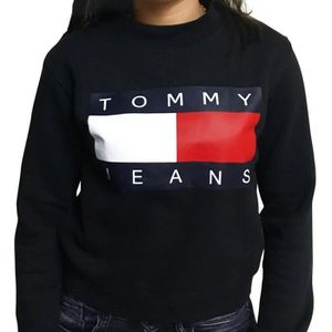 SWEATSHIRT Pull TOMMY HILFIGER FEMME 90'S Crop Top