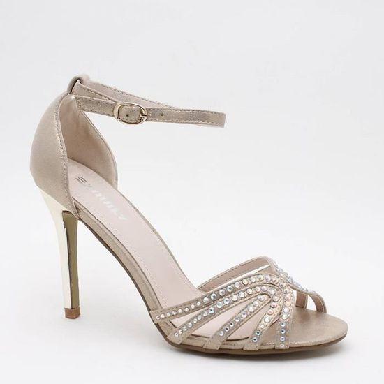 a6ca122f3331c3 Chaussures de soirée à stra Gris Taupe - Achat / Vente escarpin ...