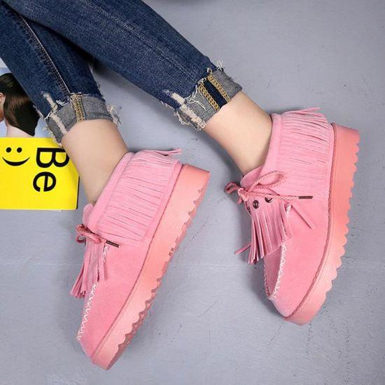 D'hiver Chaussures Chaudes Neige Pageare328 Fourrées Bottes Tassel Bottines Lazy Plates De Femmes zXcTgqOwTx
