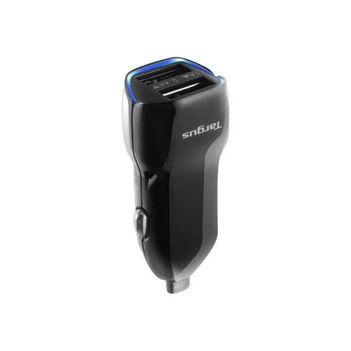 TARGUS Chargeur voiture pour Tablette Double USB - Noir