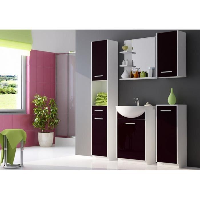 Meuble salle de bain Nancy Noir et blanc - Meubles salle de bain