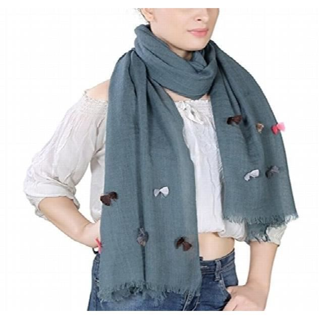 Woolen Scarf Woven Dyed Solid Coloured Cute Charming Beautiful Stole ... d38b9a7158a