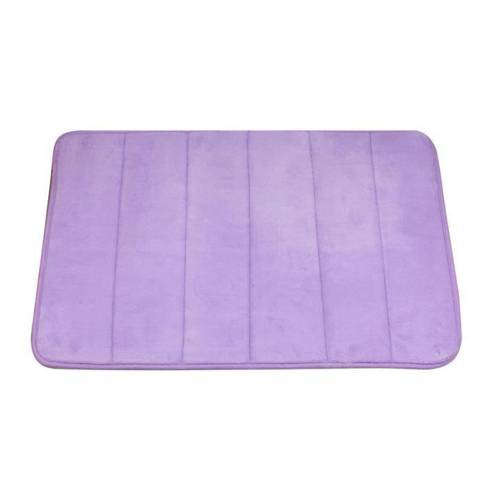 Violet clair Couvertures verticales de mousse de mémoire de tapis de ...