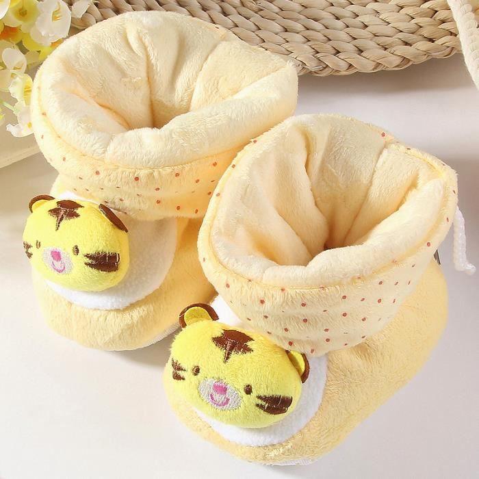 Chaussons bébé Mignon petit tigre jaune