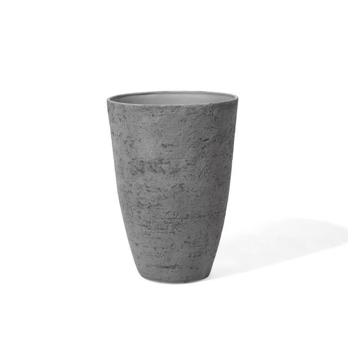 Grand cache-pot gris en pierre en forme de vase Camia - Achat ...