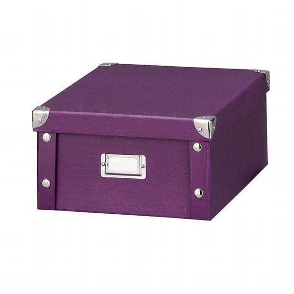 boite carton s violet achat vente boite de rangement carton cdiscount. Black Bedroom Furniture Sets. Home Design Ideas