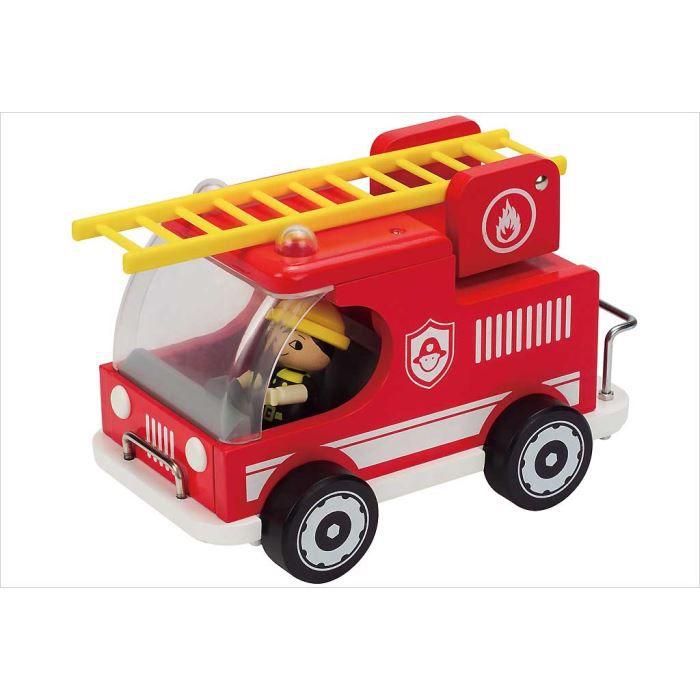 Jouet camion pompier bois hape achat vente voiture - Image camion pompier ...