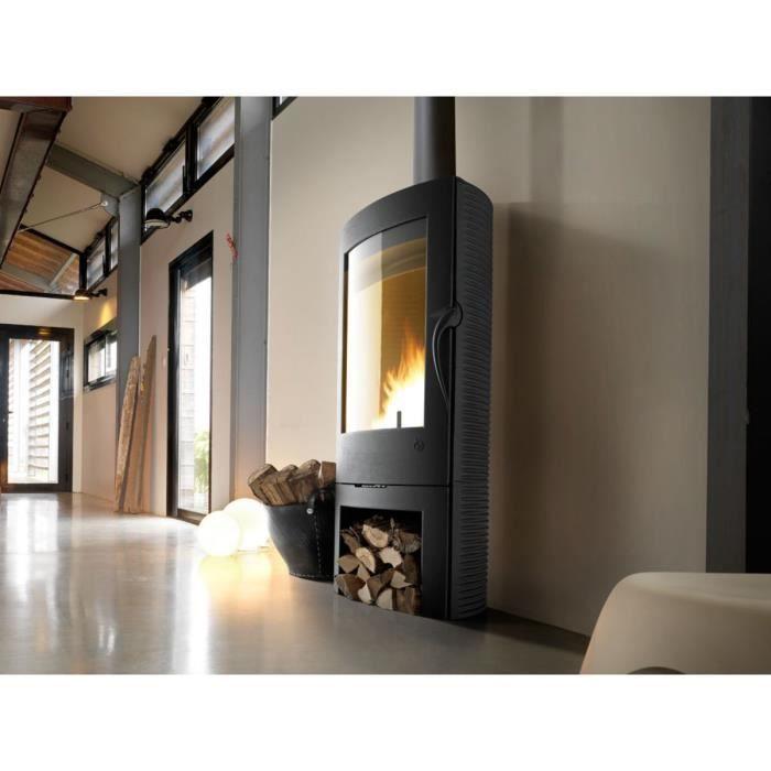 po le bois en fonte argos anthracite achat vente. Black Bedroom Furniture Sets. Home Design Ideas