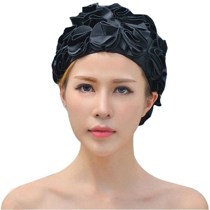 Bonnet De Bain Pour Piscine Femme Bonnets Natation Demelant En