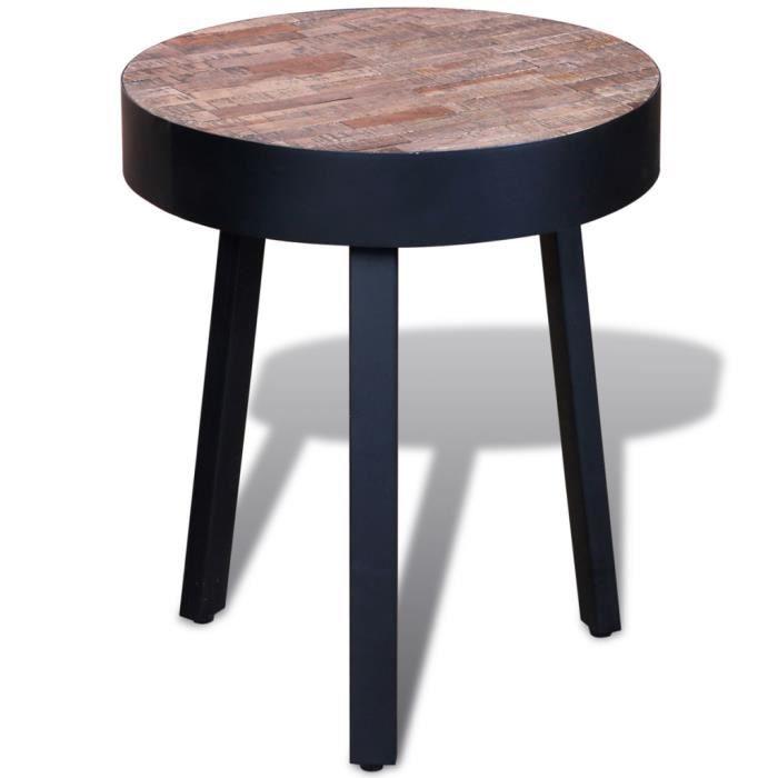 IDIMEX Table dappoint BENNO Table Basse Ronde Bout de canapé Design Retro Vintage  Industriel avec Pieds 822ef168ac47