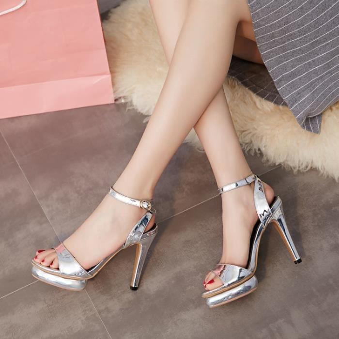 Nouvelles Femmes Sandales chaussures à talons hauts Etanche Bout Ouvert pour été