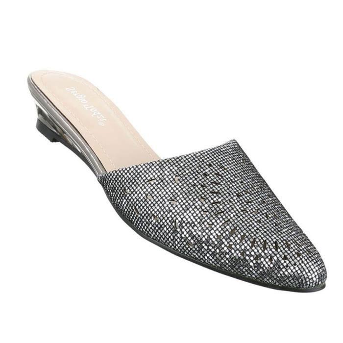 Femme sandales chaussures chaussures de plage chaussures d'été Pantoletten rose 41 BrJKgTEl2