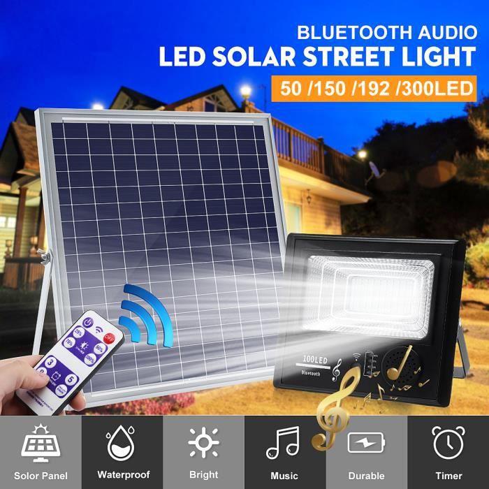 200w Lampe Solaire Jardin Lampadaire Etanche Audio 192 Bluetooth Lumière Extérieur Led Maison Tempsa qpzMUGSV
