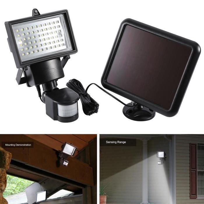 60led Sécurité Lumière Mouvement Lampe Capteur Infrarouge Solaire Jardin vNn08mw