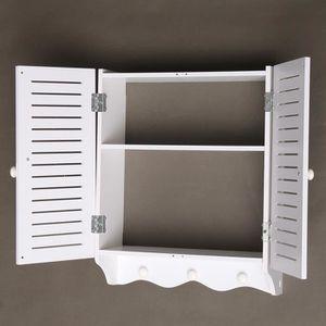 Meuble haut wc rangement achat vente meuble haut wc for Meuble mural rangement toilette