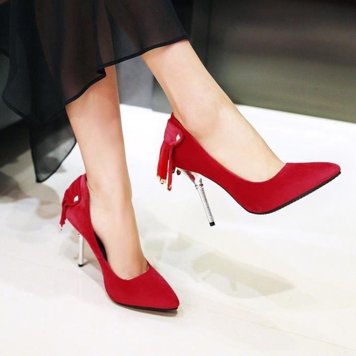 L'arrivée de nouveaux Nouveau Fshion Sandales Glands Décoration Chaussures Femmes Sexy High Heels mince Chaussures Stiletto Party & eCALgw