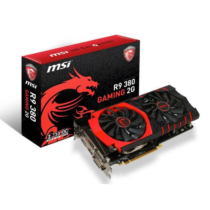 MSI carte graphique R9 380 Gaming 2Go DDR5